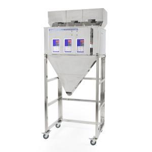 Trojitý priemyselný  dávkovač sypkých materiálov a zmesí  3x 10-500g