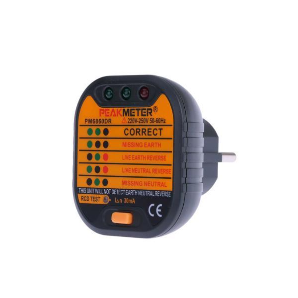 Tester zásuviek 230v / 50Hz PM6860DR