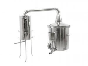 Destilačný prístroj pre destiláciu vody, kvasu a esenciálnych olejov 80L