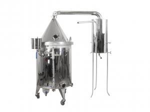 Destilačná kolóna pre destiláciu vody, kvasu a esenciálnych olejov 100L s elektrickým ohrevom