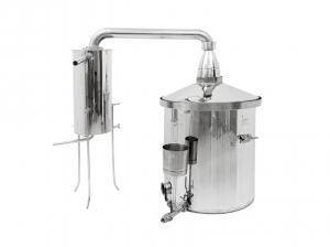 Destilačná kolóna pre destiláciu vody, kvasu a esenciálnych olejov 150L