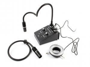 Výrobek: Profesionálny osvit pre mikroskopy 3in1 s kruhovým svetlom 6W 6500K