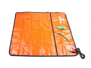 Výrobek: Servisná ESD podložka prenosná 8PK-AS07-1 s uzemňovacím kolíkom a náramkom 65x60cm červená