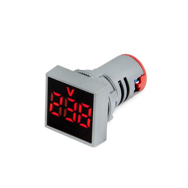 Panelový Voltmeter AC 24-500V pre vstavanie 22mm štvorcový
