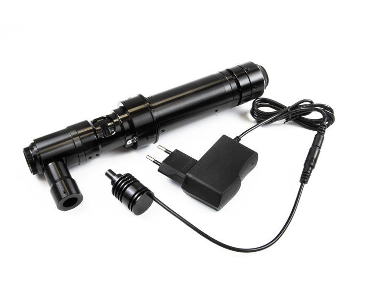 Monokulárny mikroskop so zväčšením 30-200x a vnútorným osvetlením pre inšpekciu a defektoskopiu