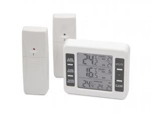 Digitálny teplomer s alarmom a dvomi bezdrôtovými čidlami - 40 ° C až 60 ° C