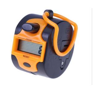 Ručné digitálne počítadlo (clicker), oranžové