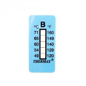 Výrobek: Samolepiaci teplomer / indikačný prúžok nereverzibilný 49-71 ° C