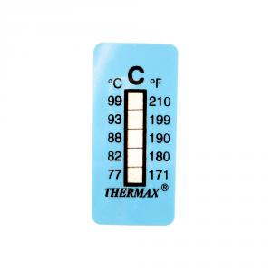 Výrobek: Samolepiaci teplomer / indikačný prúžok nereverzibilný  77-99°C