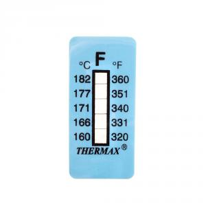 Výrobek: Samolepiaci teplomer / indikačný prúžok nereverzibilný  160-182°C