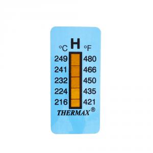 Výrobek: Samolepiaci teplomer / indikačný prúžok nereverzibilný    216-249°C