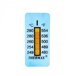 Výrobek: Samolepiaci teplomer / indikačný prúžok nereverzibilný  249-290°C