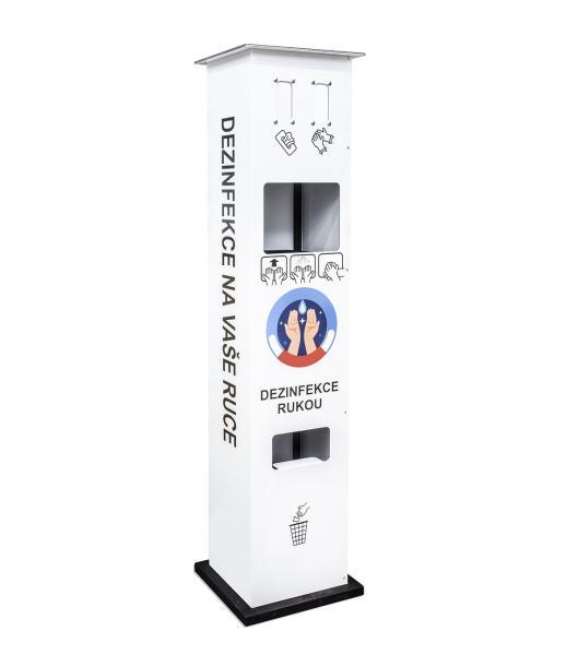 Bezkontaktná dezinfekčná veľkokapacitná stanica pre dezinfekciu rúk pre úrady, školy, firmy, obchody