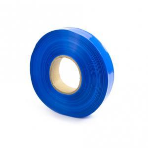 Modrá zmršťovacia PVC fólie šírky 30mm, priemer 18mm