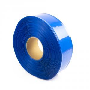 Modrá zmršťovacia PVC fólia 2: 1 šírka 60mm, priemer 36mm