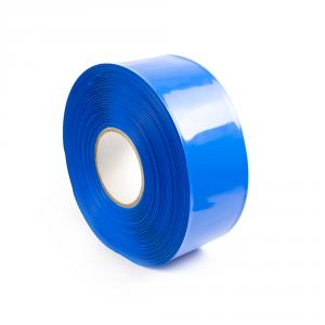 Modrá zmršťovacia PVC fólia 2: 1 šírka 70mm, priemer 43mm