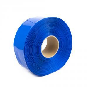 Modrá zmršťovacia PVC fólia 2: 1 šírka 80mm, priemer 49mm