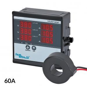 3-fázový panelový VA-meter 60A 1-500V
