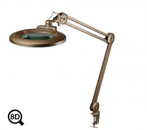 Zlatá stmievateľná LED lampa s lupou IB-150, priemer 150mm, 8D