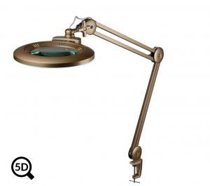 Zlatá stmievateľná LED lampa s lupou IB-150, priemer 150mm, 5D