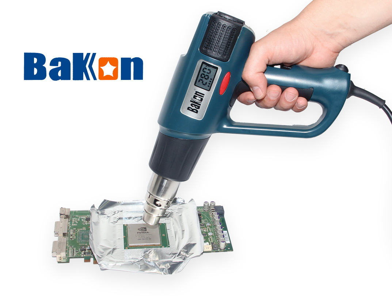 Ručná horúcovzdušná pištoľ s displejom Bakon BK8020 LCD
