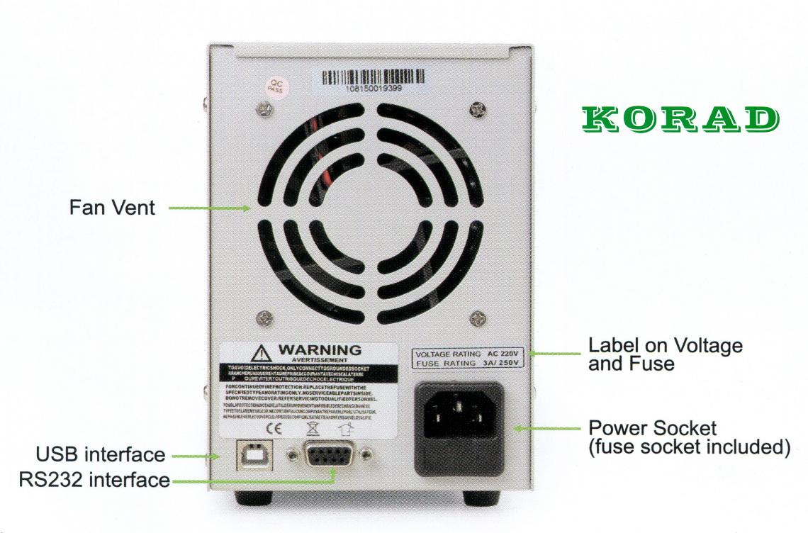 Programovateľný laboratórny zdroj Korad KA3005P s pripojením k PC