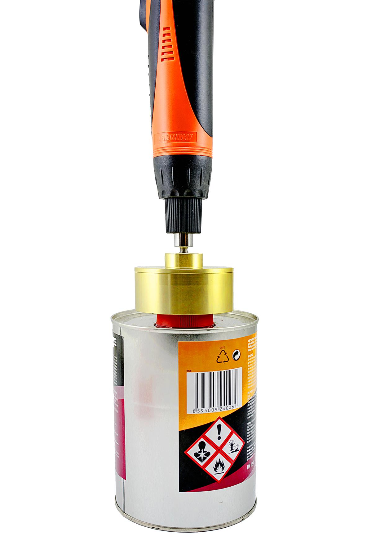 Elektrický zatvárač (uťahovák) skrutkovacích viečok a uzáverov 2,5Nm 36W + Adaptery 5-50mm