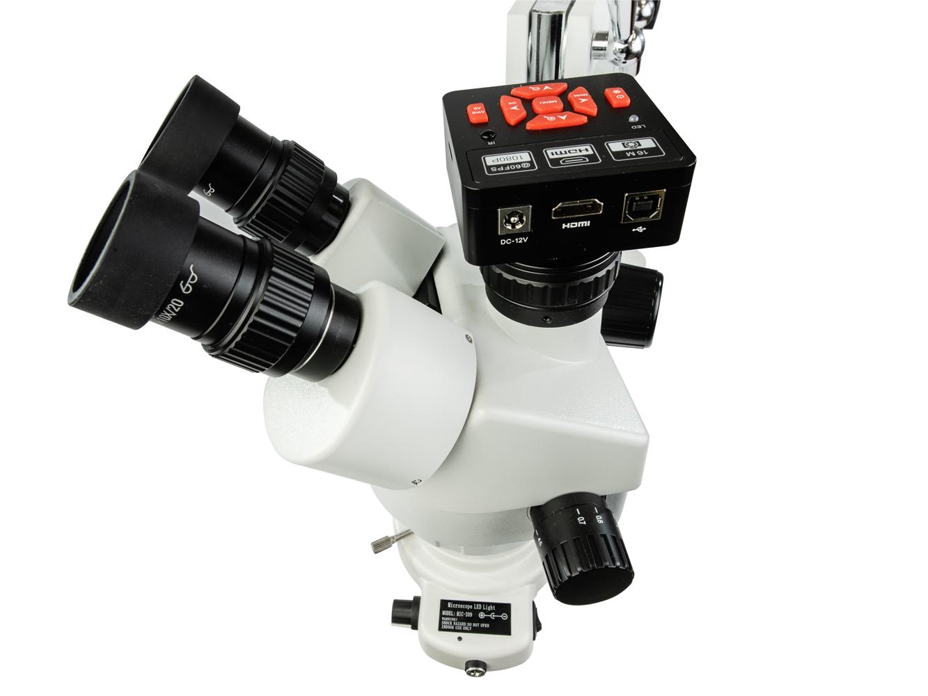 Profesionálny trinokulárny 16Mpix mikroskop s HDMI